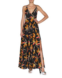 Bird of Paradise Crisscross-Back Ruffled Dress