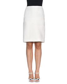 Lightweight Gazar Pencil Skirt