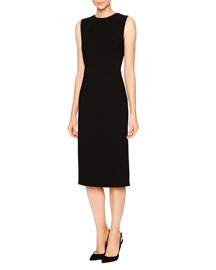 Bijoux Open-Back Stretch-Crepe Dress, Black