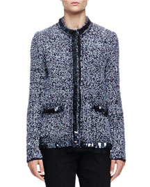 Boucle Tweed Sequin Jacket