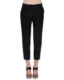 Cady Cropped Straight-Leg Pants