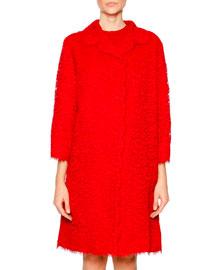 Cordonetto Lace Topper Coat, Bright Red