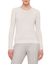 Cashmere-Blend Long-Sleeve Top