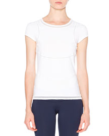Seamed Short-Sleeve Tee