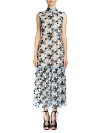 Kiristina Guipure Lace Midi Dress