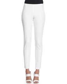 Techno Twill Slim-Fit Pants, White