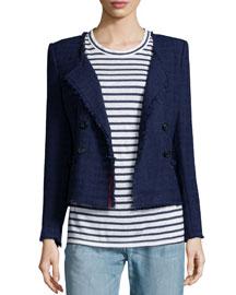 Flenn Fringed Four-Button Jacket