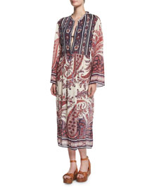 Tilda Paisley-Print Tunic Dress