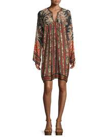 Tresha Paisley-Print Tunic Dress