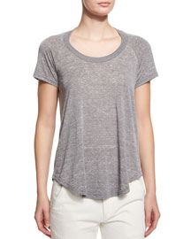 Diego Heathered Short-Sleeve Tee, Gray