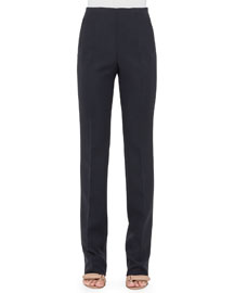 Constance Double-Face Wool Pants, Black