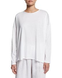 Long-Sleeve Pima Cotton T-Shirt, White