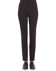 Melissa Skinny Ankle Pants, Black