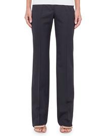 Meg Wide-Leg Pants, Black