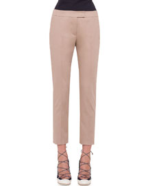 Stretch-Cotton Ankle Pants, Cord