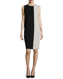 Colorblock Jersey Shift Dress