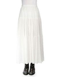 Tiered Voile Prairie Skirt