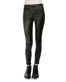 Studded Leather Leggings