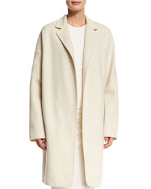 Felted Oversized Coat, Ivory
