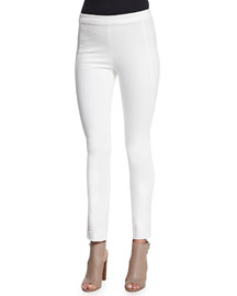 Ultra-Stretch Cropped Twill Pants, Ivory