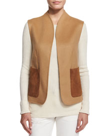 Alex Wool Patch-Pocket Vest