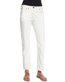 Ashland Classic Five-Pocket Denim Jeans, White