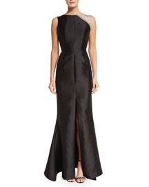 Tijana Embellished Mermaid Gown, Black