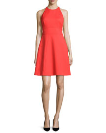 Modified-Halter Fit-&-Flare Dress, Poppy