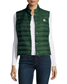 Liane Puffer Vest, Kelly Green