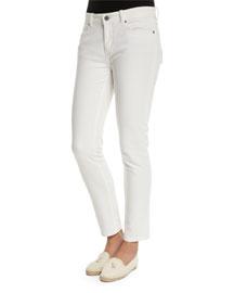 Mathias Skinny Denim Jeans, White