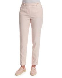 Jari Cuffed Ankle Pants, Rosebud Pink