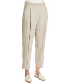 Thomas Cropped Linen Pants