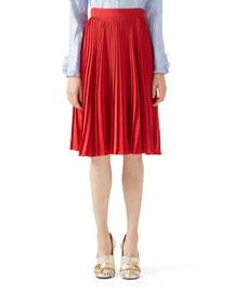 Silk Pliss� Skirt