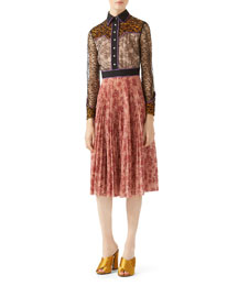 Georgette Bonded Lace Dress