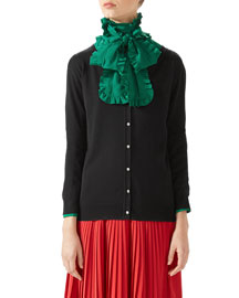 Cashmere Embroidered Cardigan
