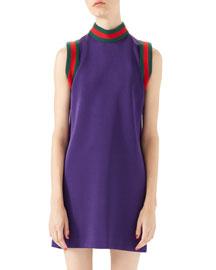 Shine Jersey Sleeveless Dress