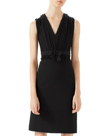 Viscose Jersey Dress, Black