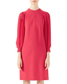Viscose Jersey Dress, Fuchsia