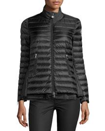 Grenouille Flyaway Puffer Coat, Black