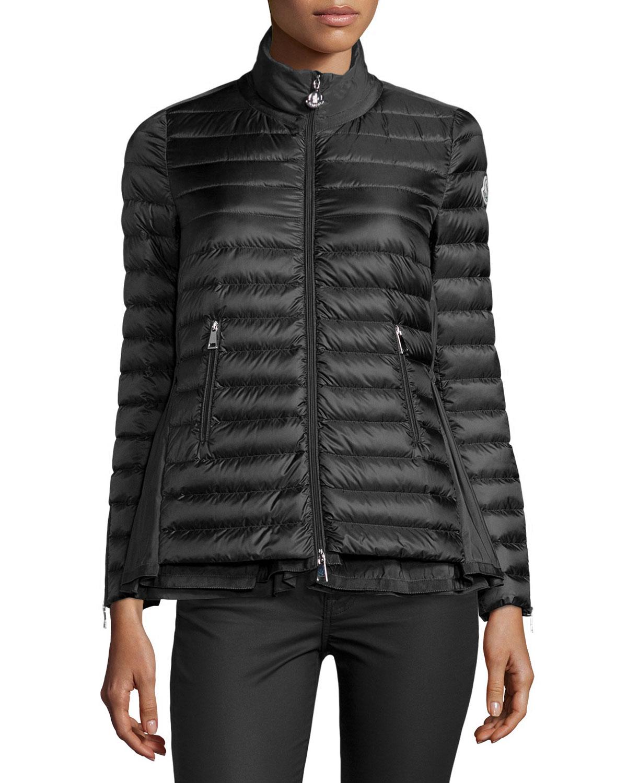 Moncler Grenouille Flyaway Puffer Coat, Black, Women's, Size: 3