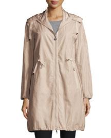 Neombre Drawstring Coat, Khaki