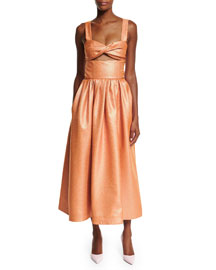 Morning After Cutout Midi Dress, Copper
