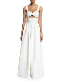 Morning After Wide-Leg Jumpsuit, White