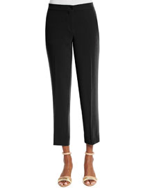 Cropped Cady Capri Pants, Black