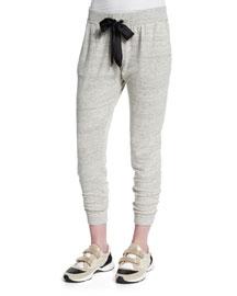 Heathered Tweed Jogger Pants, Gray