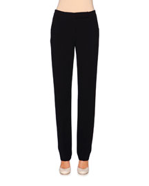 Slim-Fit Stretch-Wool Pants, Navy