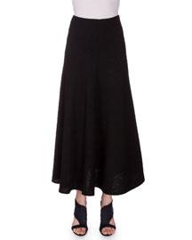 Brent Flowy Crinkled Chiffon Maxi Skirt, Black