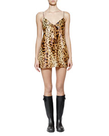 Shimmery Leopard-Print Cami Dress