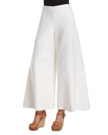 Charmain Mikado Cropped Pants, Off White