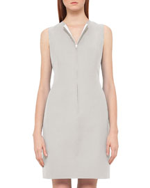 Reversible Sleeveless Zip-Front Sheath Dress, Kami